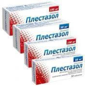 Плестазол 100 мг таблетки №60.