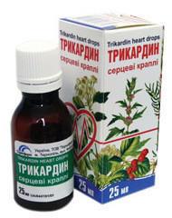 Трикардин капли 25 мл инструкция по применению, фармакологические.